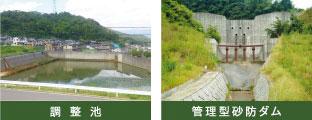 管理型砂防ダム 調整池