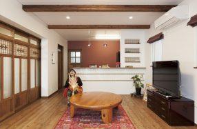 カフェの可愛さにアジアンな雰囲気を添えた家